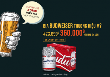 Khuyến mãi hấp dẫn bia Budweiser giảm 60.000đ trong tháng 10/2017