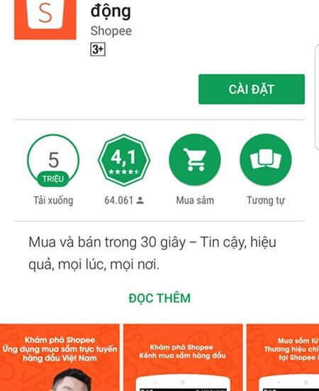 Tải Shopee cho Android
