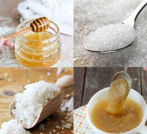 Tẩy da chết bằng mật ong và muối biển