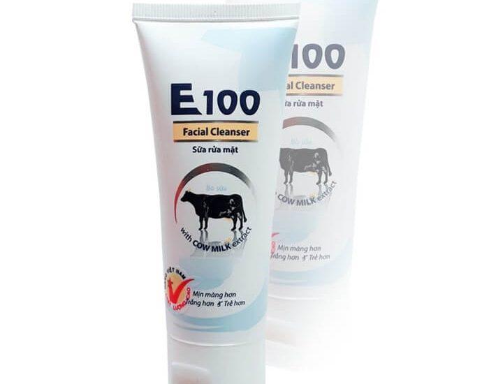 Sữa rửa mặt E100 mang lại khá nhiều lợi ích
