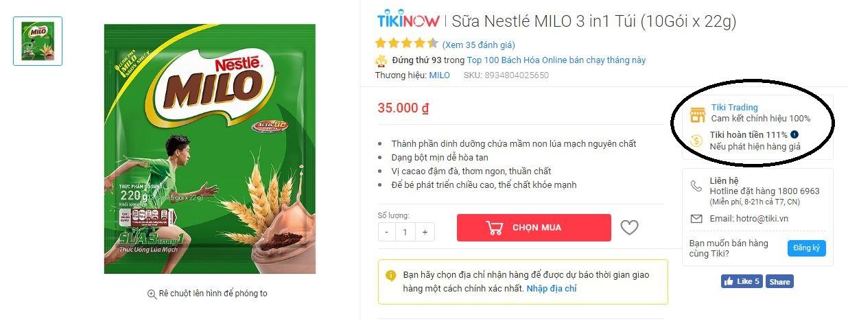 Nhà cung cấp Tiki Trading