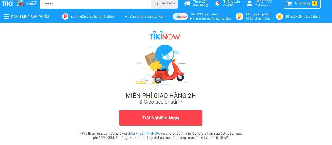 Gói dịch vụ TikiNOW