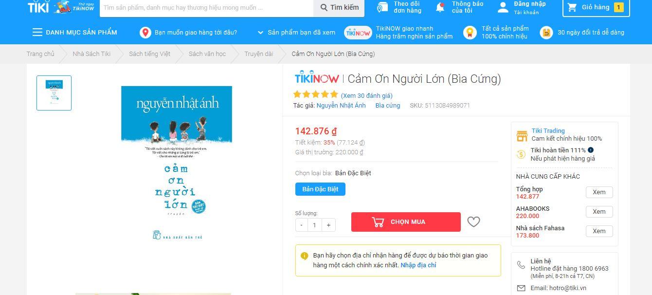 Top 2 đầu sách Tiki bán chạy nhất