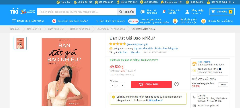 Top 1 sách Tiki bán chạy nhất hiện nay