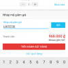 Nhập mã giảm giá cho đơn hàng Tiki