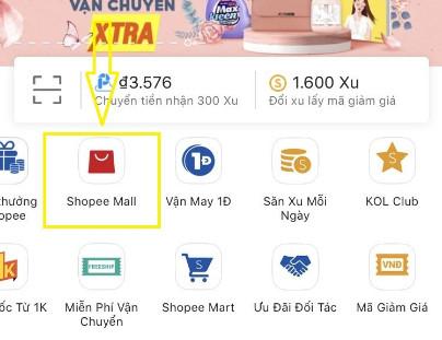 Dấu hiệu nhận biết Shopee Mall trên điện thoại